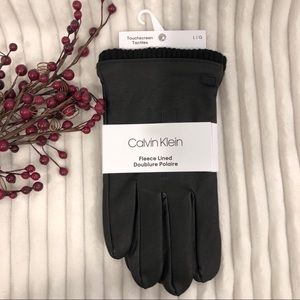 Calvin Klein Black Fleece Lined Touchscreen Gloves